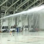 Brandvattenkanon FWM-EL vid test på Gardemoen Flygplats i Norge