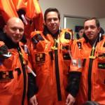 Stefhan, Fredrik och Anders. Certifierade för Offshore-arbeten