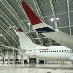7 st brandkanoner som skyddar 5 stycken uppställningsplatser av Norwegians nya Dreamliner
